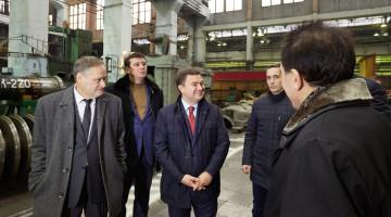 Віктор Бондар на харківському заводі «Турбоатом» у рамках передвиборного турне