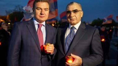 Віктор Бондар вшанував пам'ять вірмен загиблих унаслідок геноциду